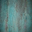 Stock Photo: Turquoise weathered wood texture