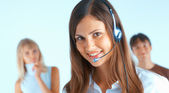 Call-Center-Betreiber — Stockfoto