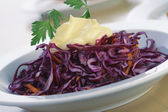 Red Cabbage Salad With Mayonnaise. — Stock Photo