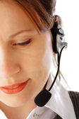 Call centre executive — Stock Photo