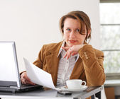 Business woman at work — Stock Photo