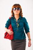 Beautiful young woman in sun glasses — Stock Photo