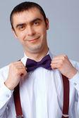 Purple Bow Tie. — Stock Photo