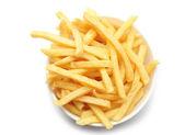 Tigela de batatas fritas — Foto Stock