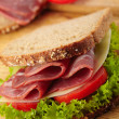 Stock Photo: Fresh deli sandwich with tomatoes, swiss chees