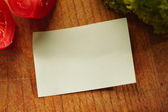 A Blank Recipe Card with Ingredients — Stock Photo