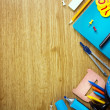 Stock Photo: Background of school supplies