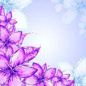 用鲜花抽象浪漫背景 — 图库照片