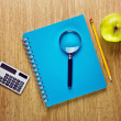 Background of school supplies — Stock fotografie