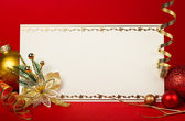 Christmas card with space and christmas decoration — Stock Photo