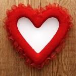 Walentynki tło z serca — Zdjęcie stockowe