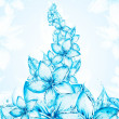 Liquid flower background - Stock Photo