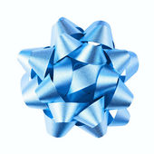 Blue bow is isolated on a white background — Stock Photo