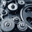 Stock Photo: Close up view of gears from old mechanism