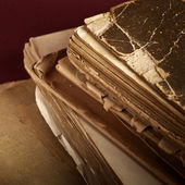 Closeup of old book pages — Stock Photo