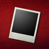 Blank photo frames on canvas background. Path included — Stock Photo