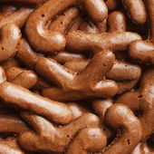Close-up of cookies, for backgrounds or textures — Stock Photo