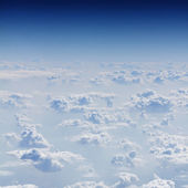 View on sky above clouds — Stock Photo