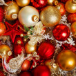 Christmas ball background — Stock Photo