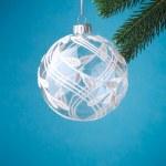 Christmas ball on christmas tree — Stock Photo