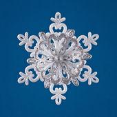 Studio close-up snowflake — Stock Photo