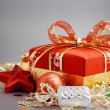 Christmas gift box with christmas balls — Stock Photo #31770221