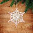 Snowflakes and fir tree — Stock Photo #31770225