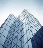 Niebieski tekstury budynku ze szkła — Zdjęcie stockowe