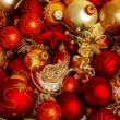 Stock Photo: Christmas balls background