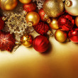 Christmas balls background — Stock Photo