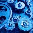 Close up view of gears from old mechanism — Stockfoto