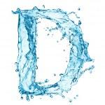 Water splashes letter D — Stock Photo #40159671