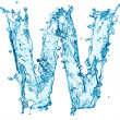 Water splashes letter W — Stock Photo #40159889