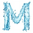Water splashes letter M — Stock Photo #40159897