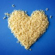 Foto Stock: Heart shape from pasta