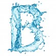 Foto Stock: Water splashes letter B