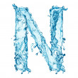 Stock Photo: Water splashes letter N