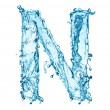 Water splashes letter N — Stock Photo #40161671
