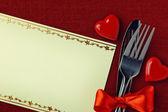 Valentine' day dinner — Stock Photo
