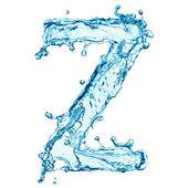 Water splashes letter Z — Stock Photo