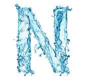 Water splashes letter N — Stock Photo