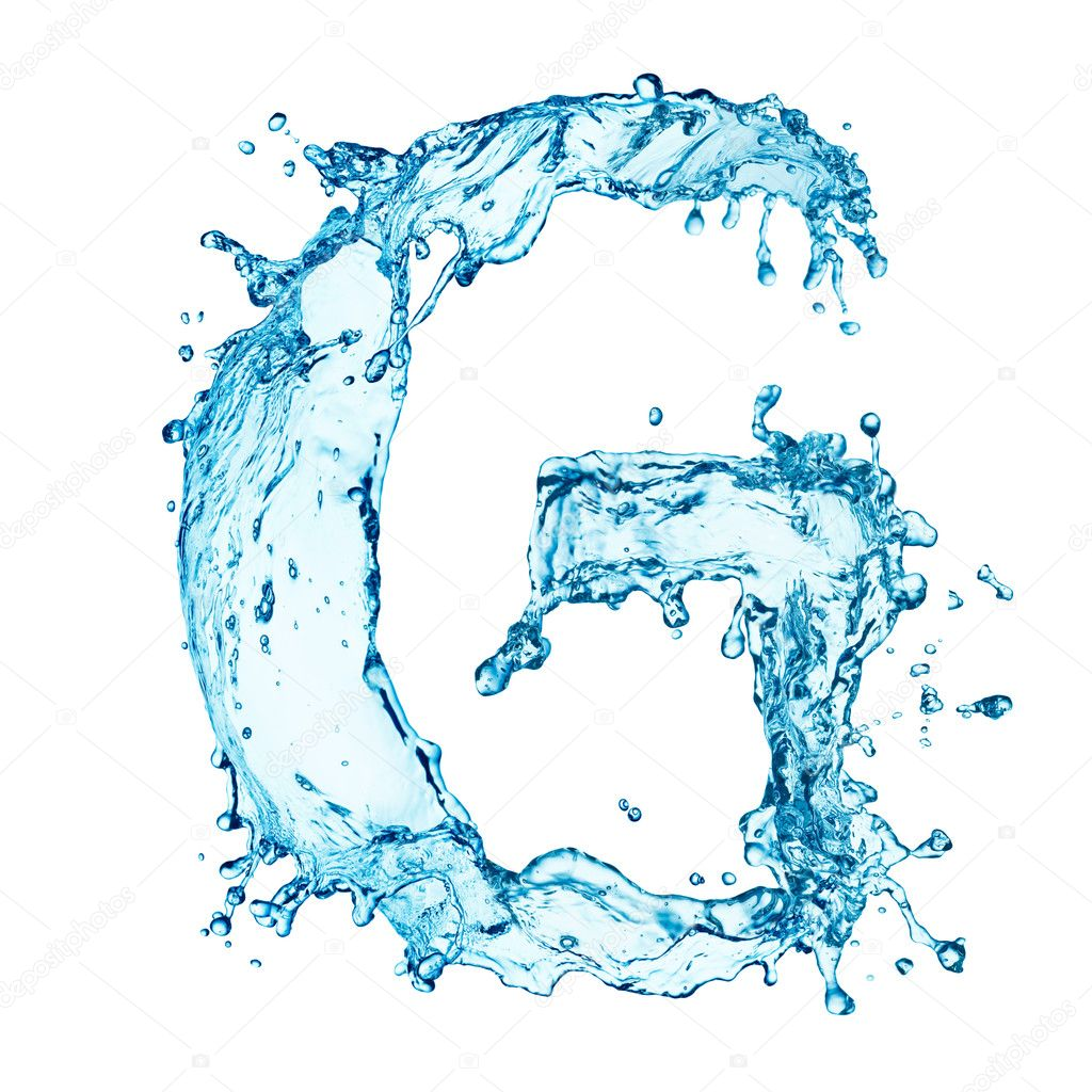 G Letter In Water Water splashes ...
