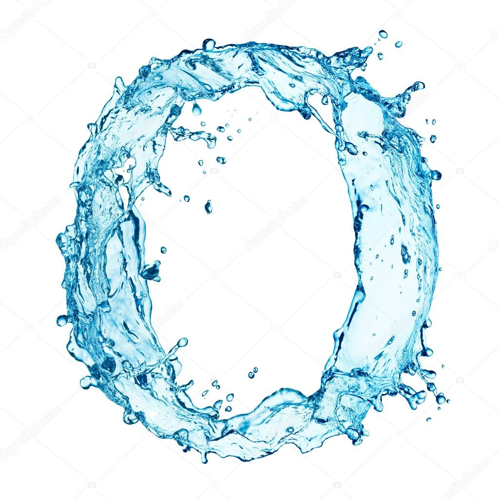 water splashes letter o stock photo korovin 40161439