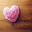 Old wooden background with heart shape — 图库照片