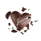 Chocolate broken heart — Stock Photo