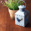 Flower and candle lantern — Stock Photo #47996449
