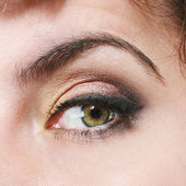 Closeup of an eye with makeup — Stock Photo