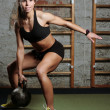 Fit woman lifting weights — Stock Photo #41711343