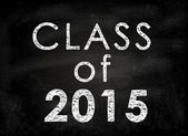 Conceptual Class of 2011 statement written on black chalkboard. — Stock Photo