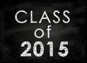 Conceptual Class of 2011 statement written on black chalkboard. — Stock Photo